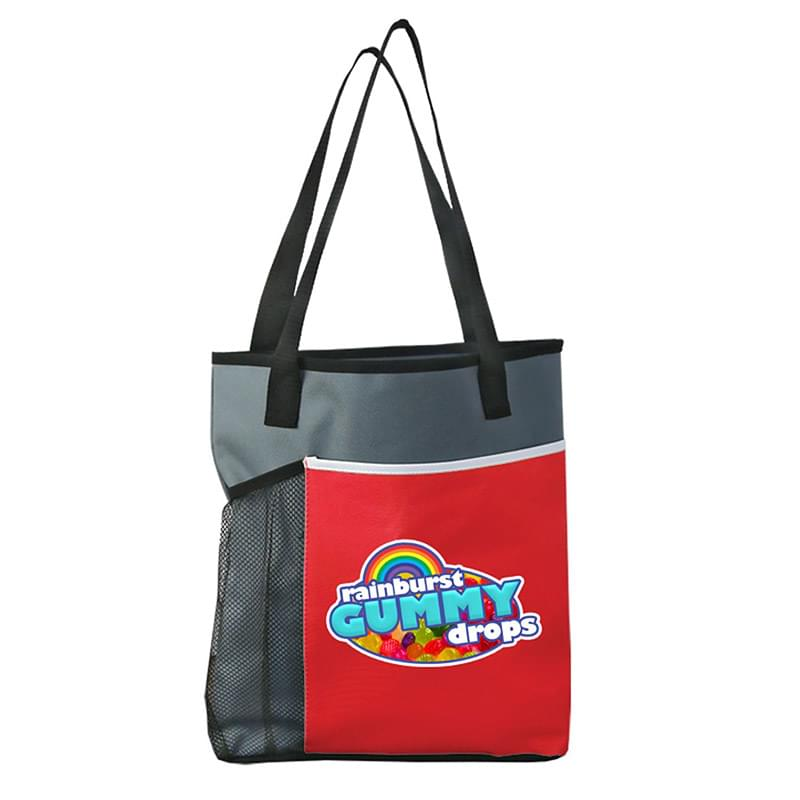 Digital Broadway Tote  with Mesh Bottle Holder