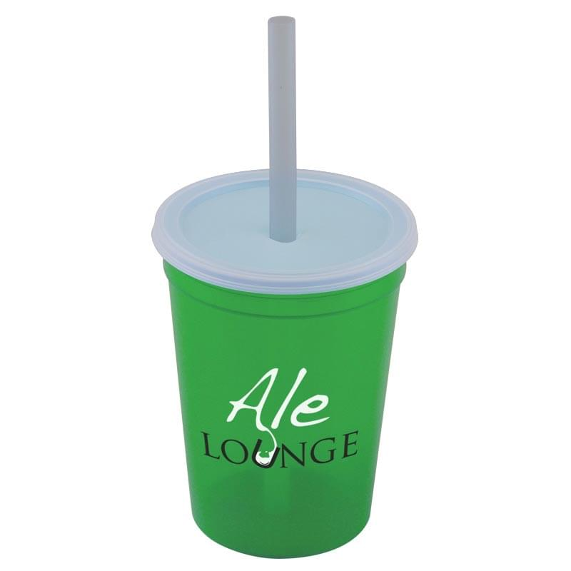 16 oz. Stadium Cup with Lid & Straw