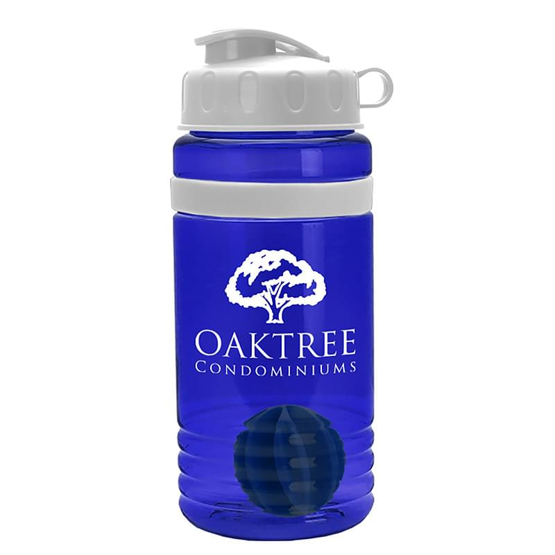 20 oz. Stripe Shaker Sports Bottle - Flip Lid