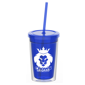 15 oz. Double-Wall Transparent Tumbler