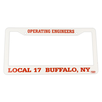 Hi-Impact 3D Two Corner License Plate Frame - ABS