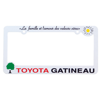 Hi-Impact 3D Maximum License Plate Frame - ABS