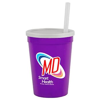 12 oz Cup with Lid & Straw - Digital