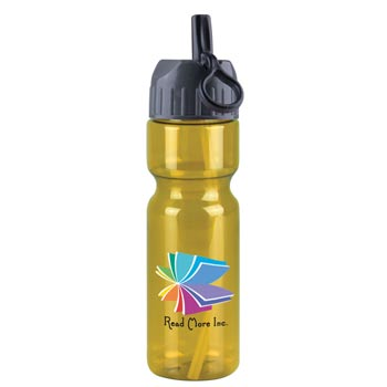 Champion -28 oz. Trans. Bottle-Flip Straw - DP