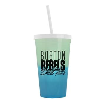 22 oz. Cool Color Change Straw Tumbler
