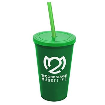 22 oz. Straw-n-Lid Single-wall Tumbler