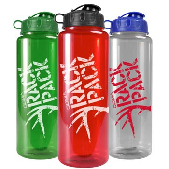The Guzzler - 32 oz. Trans. Color Bottles