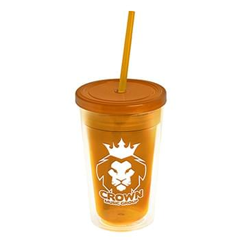 16 oz. Double-Wall Transparent Tumbler