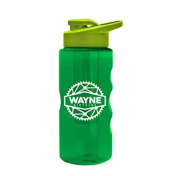 22 oz. Tritan Infuser Sports Bottle - Drink-Thru Lid