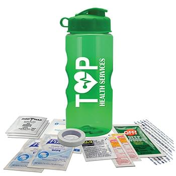22 oz. Tritan Bottle Survival Kit - Flip Lid