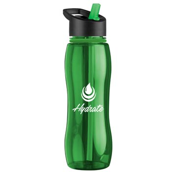 25 oz. Tritan Bottle with Collar - Flip Straw Lid
