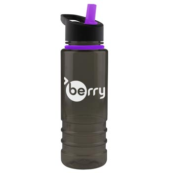 Two-tone - 24 oz. Tritan Bottle -Flip Straw Lid