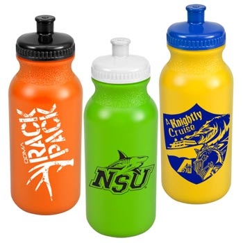 Sports Bike Bottles with Push Pull Cap - 20 oz.